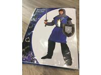 Unopened knights costume age 8-10 yrs