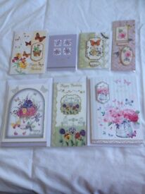 7 BEAUTIFUL HANDMADE BIRTHDAY CARDS FOR LADIES lot 1