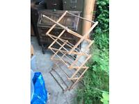 Antique Vintage Wooden Clothes Airer