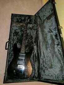 Electric guitar and hard flight case