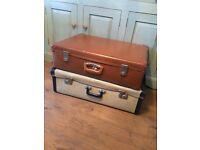 Five vintage suitcases