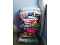 dozen crochet blankets