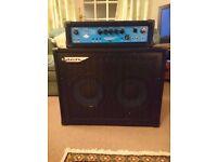 Ashdown Bass Guitar amp rig EB 180 Head 180W bass amplifier head & Mag 210T Deep II Bass Cab