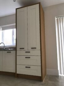 high cabinet with 3 shelves & 3 drawers
