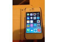 White iPhone 4 8gb locked to o2