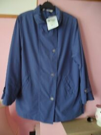 LADIES BLUE DAXON JACKET WATER- REPELLENT BNWT SIZE 12