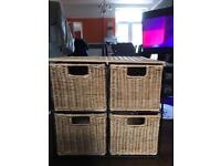 Rattan style drawer storage