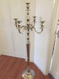 Beautiful silver candelabra