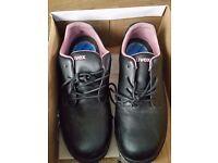 Ladies Uvex Black Safety Shoes, Acid & Oil Resistant, Antistatic, Steel Toe Caps, Size 7/41, Unworn