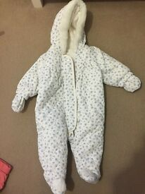 NEXT Baby Girls Floral Snowsuit NEW Size up to 3 months