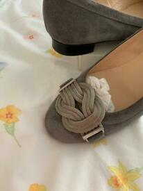 Ladies Russell & Bromley grey suede shoes