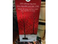 LED table top twig tree with lights
