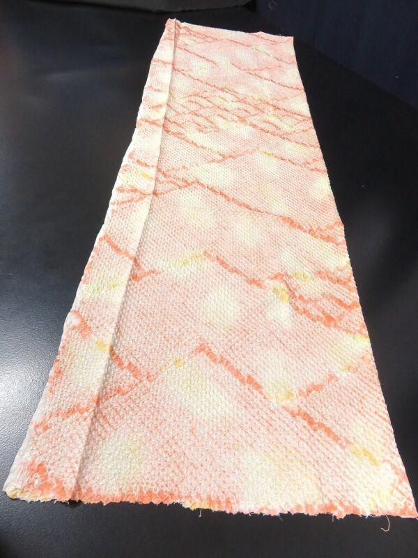 FF#2342Ad50 Vintage Silk Kimono Fabric Shibori 43.3x11.8in(110x30cm)