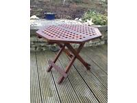 Wooden folding garden /conservatory table