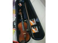 Violin and associated items.