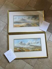 ART COLLECTORS - 2 Watercolours (Scenes From Donegal & Connemara) By NI Artist RB Higgins