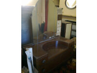 Solid wood vintage dressing table approx 1950