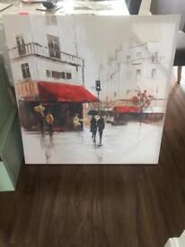 Large Paris canvas print