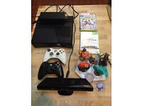 Xbox 360 with box, Kinect and games great condition