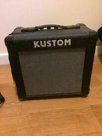 Kustom KGA10 amp and coiled cable