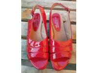 Woman's red shoes