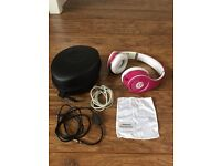 Genuine Monster Beats Studio headphones, limited edition in pink.