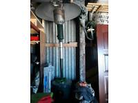 Gas patio heater includes canister of gas