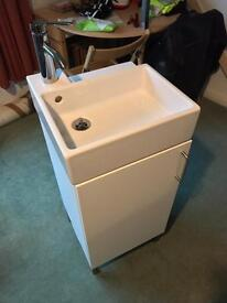 IKEA Sink, Tap, 1 Door Cabinet And Legs