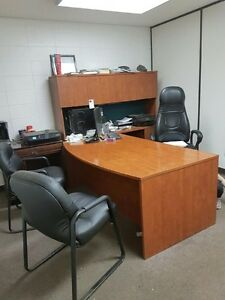 Executive Bowfront office desk