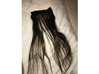 STRANDED human hair extensions, 16-18 inch, 2 full heads