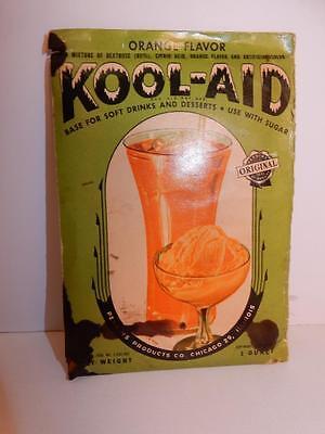 VINTAGE 1930S KOOL-AID ANTIQUE ORIGINAL PACK ADVERTISING KOOL AID PACKET ORANGE