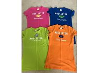 4 HOLLISTER T-SHIRTS