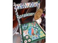 One of a kind hand crafted chair