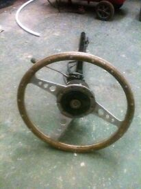 Mk2 classic mini steering column and steering wheel