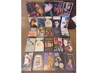 26 Vintage Music VHS tapes In Very good condition