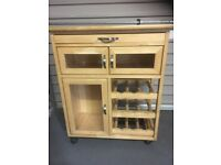 Solid Beech kitchen Trolley