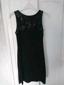 Dress - short little Black dress (size small - Mango)