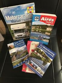 Selection of motorhome travel and maintenance books