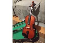 3/4 sized Violin for sale with case and bow - only £15