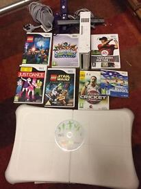 Nintendo Wii fit bundle with 9 games and balance board