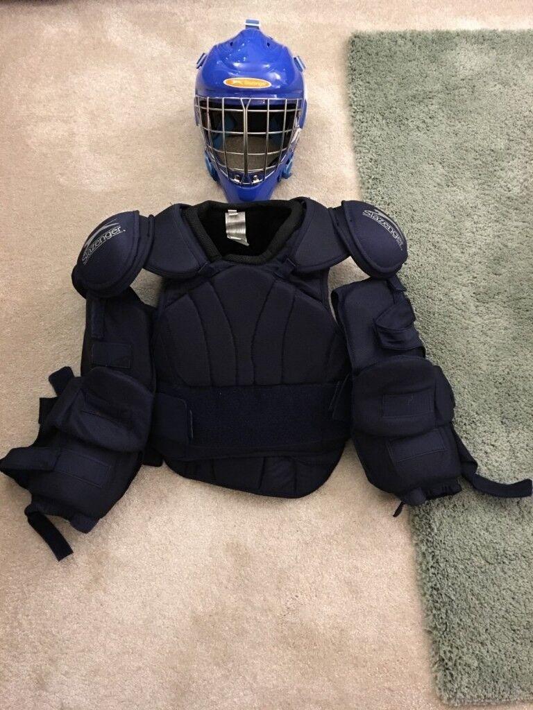 Slazenger Field Hockey Goal Keepers Helmet And Pads In