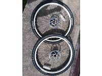 White Bike Wheels