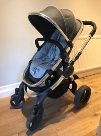 Icandy peach 3 truffle colour, pushchair and carrycot included,