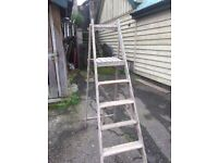 Vintage Wooden Step Ladder (vintage, antique, rustic)