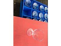 24 wine glasses in tray