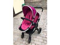 ICANDY PEACH 3 DOUBLE PUSHCHAIR SET