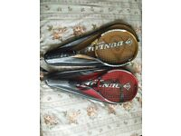 Two adult tennis rackets in good condition