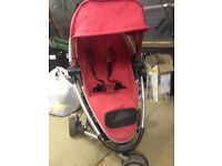Red Quinny Zapp Extra Pushchair