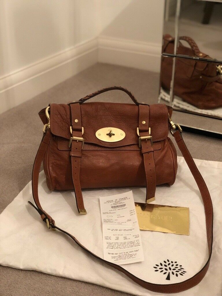 Genuine Mulberry Alexa bag oak leather  96331e22d4ca7
