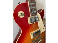 Rare Epiphone Les Paul Std Electric Guitar, Cherry Sunburst 2005, Guitar bag and Strap